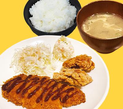 ヒレカツ・唐揚げ丼